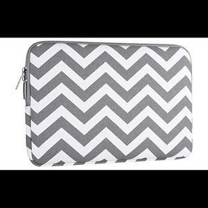 Mosiso chevron gray laptop sleeve carrying case